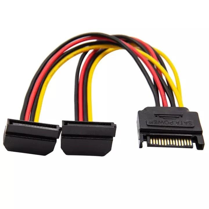 Cáp chia nguồn Sata 1 ra 2 Sata cho HDD/ SSD