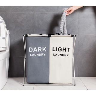 Giỏ đựng phân loại quần áo nhiều ngăn Let's Decor chất liệu vải chống thấm tiện dụng trang trí nhà cửa Let's Decor