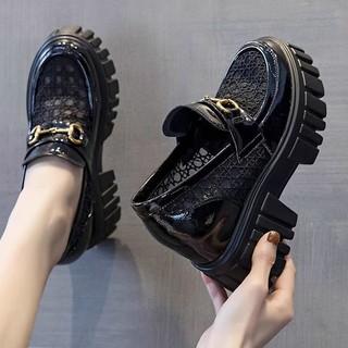 Giày Anh Nữ2021Mùa Hè Mới Mỏng Lưới Rỗng Ngắn Dày Tăng Giày Nữ Giày thumbnail