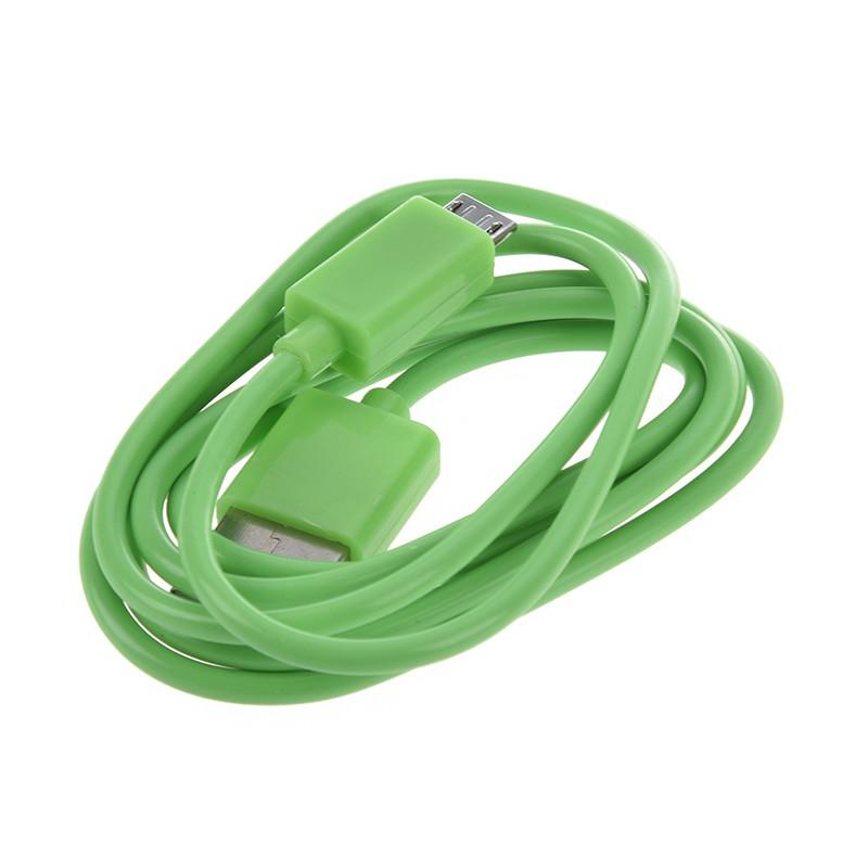 Cáp sạc / truyền dữ liệu USB 2.0 đầu cắm A cho Android MID 4 màu xanh lá
