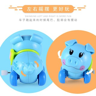 Children's clockwork toy chain cartoon chain pig toy toy
