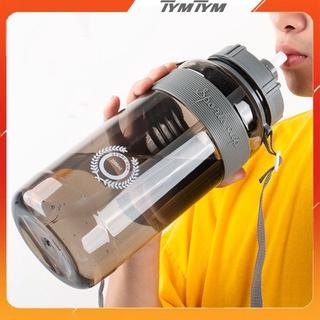 Bình đựng nước thể thao, tập gym Sports Cup từ 0,6 – 2 lít chia vạch nhựa cao cấp tặng kèm dây đeo và ống hút cute