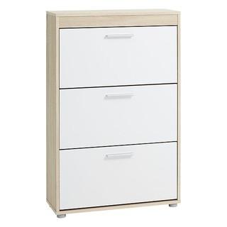 Tủ giầy JYSK Slagelse 3 ngăn gỗ công nghiệp màu sồi trắng 71x113x25cm thumbnail