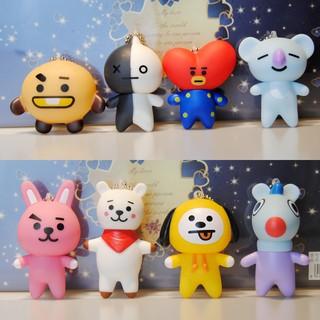 Kpop BTS BT21 PVC Keychain Búp Bê Keyring Bag Ornament thumbnail