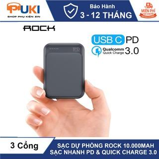 Sạc Dự Phòng ROCK P65 Mini 10.000 mAh Hỗ Trợ Sạc Nhanh PD Và Quick Charge 3.0