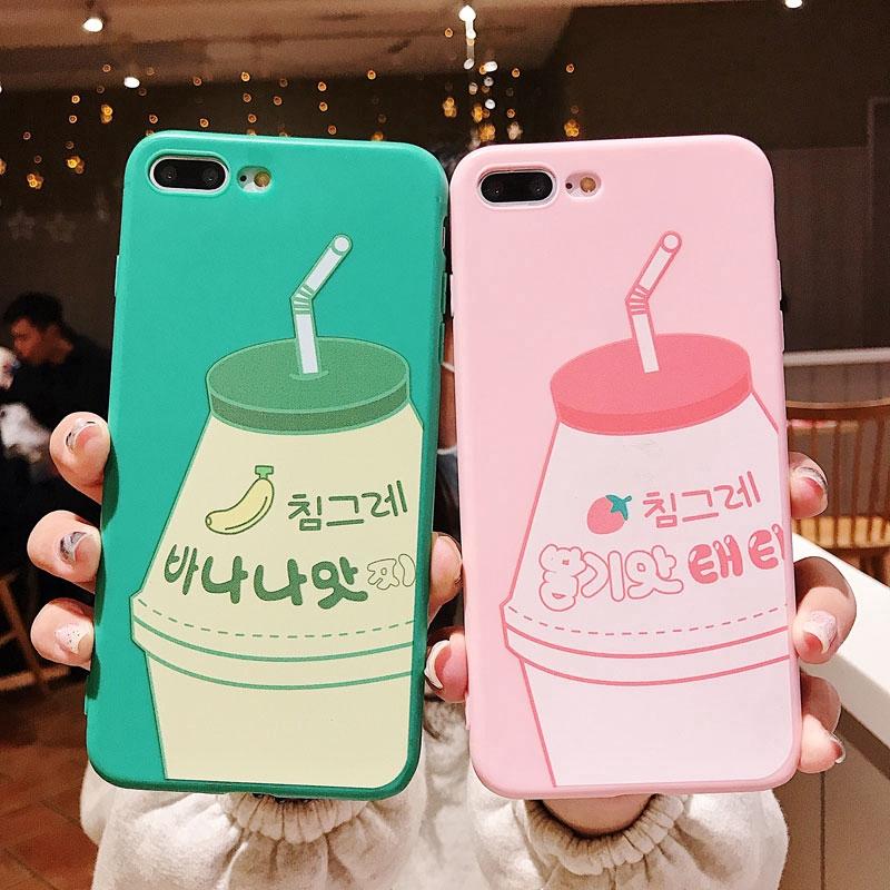 Ốp điện thoại họa tiết hình chai sữa xinh xắn cho iPhone 8 7 6s 6 x XR XS Max Plus
