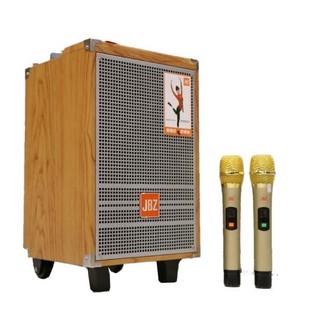 {❇Siêu HOT} Loa kéo karaoke di động JBZ 0803 bass 2 tấc, kèm 2 micro nhôm UHF không dây