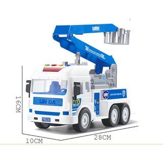 Mô hình xe thang chặt cây xe thang chặt cây đồ chơi ô tô