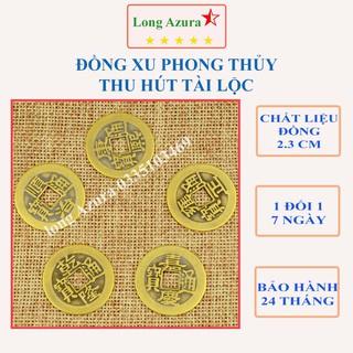 Đồng xu cổ phong thủy, 2.3cm, đồng, ngũ đế, đồng xu âm dương, gieo quẻ, chiêu tài lộc, phong thủy, may mắn, bỏ ví