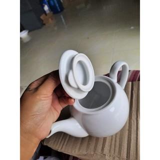 Bình trà trắng, bán lẻ size 0.8L Minh Long.