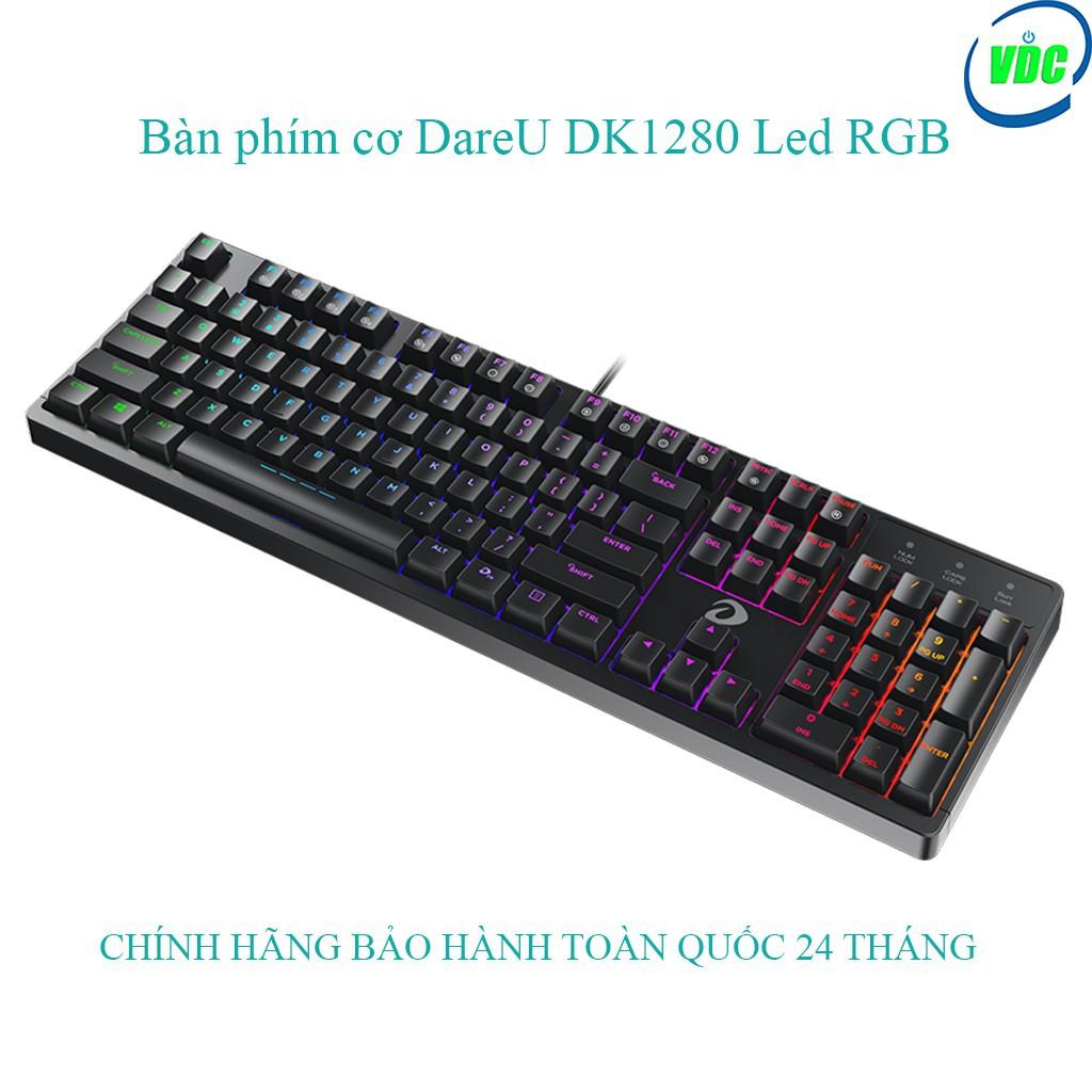 2019- Bàn Phím Cơ Gaming DareU DK1280 RGB Blue/Brown/Red Switch [ Chính hãng, Bảo hành toàn quốc 24 tháng ] -SIÊU HOT