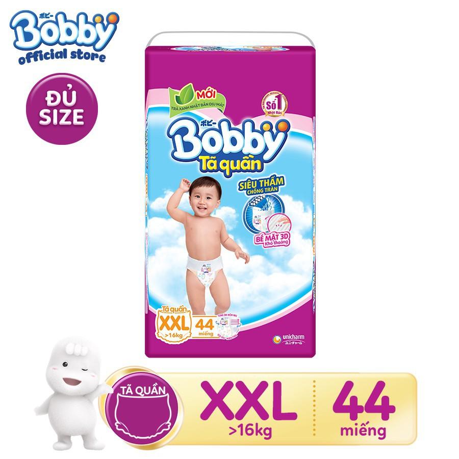 Hình ảnh [NHẬP MKB70K GIẢM 70K ĐƠN TỪ 1TR] [HCM][Đủ size] Tã quần siêu thấm Bobby hương trà xanh M60/L54/XL48/XXL44-4