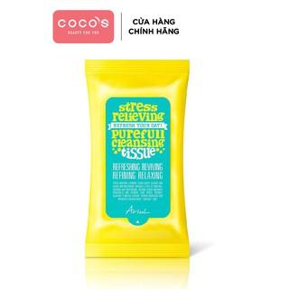[Mã FMCGMALL - 10% đơn 250K] Khăn Giấy Tẩy Trang Ariul Stress Relieving Purefull Cleansing Tissue