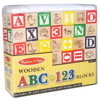 Khối gỗ lập phương 3cm học chữ và số ABC 123 – Bộ 50 khối