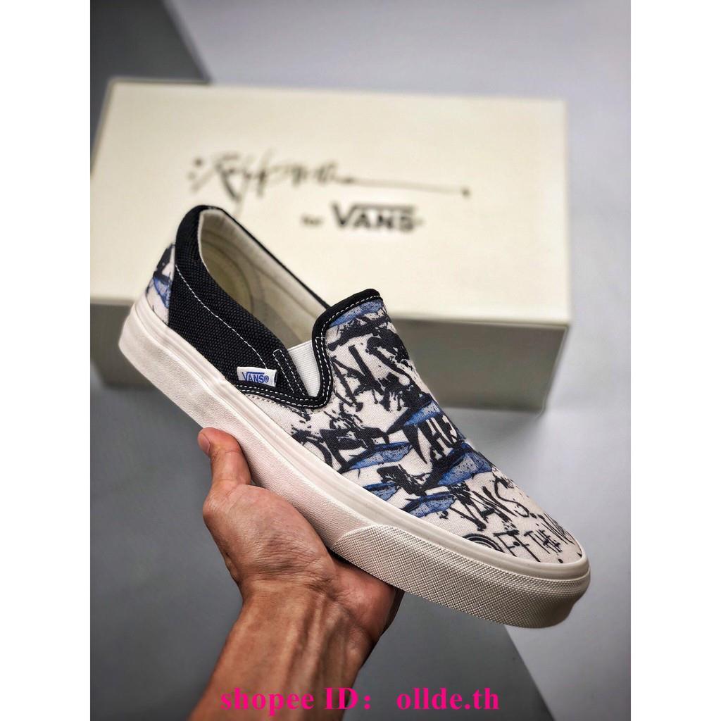 Vans Fansi 2019 ผู้ชายและผู้หญิงรองเท้าคู่รองเท้าผ้าใบ
