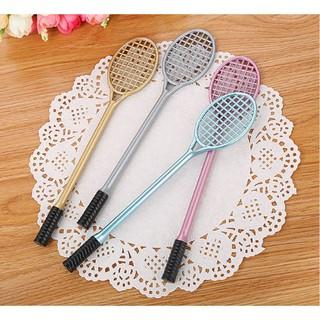 B60 bút vợt cầu lông bút chơi thủ công handmade bút dễ thương viết gel màu đen thumbnail