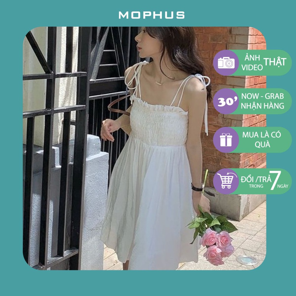 Váy 2 dây chun ngực buộc dây ulzzang hot hit Mophus