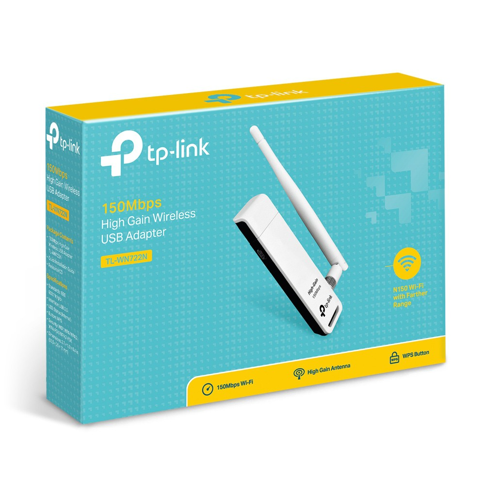 USB THU SÓNG WIFI CHO MÁY TÍNH TP.LINK TL-WN722N CÓ ANTEN Giá chỉ 220.000₫