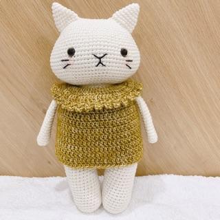 (Thú móc len) mèo chân dài mặc váy,