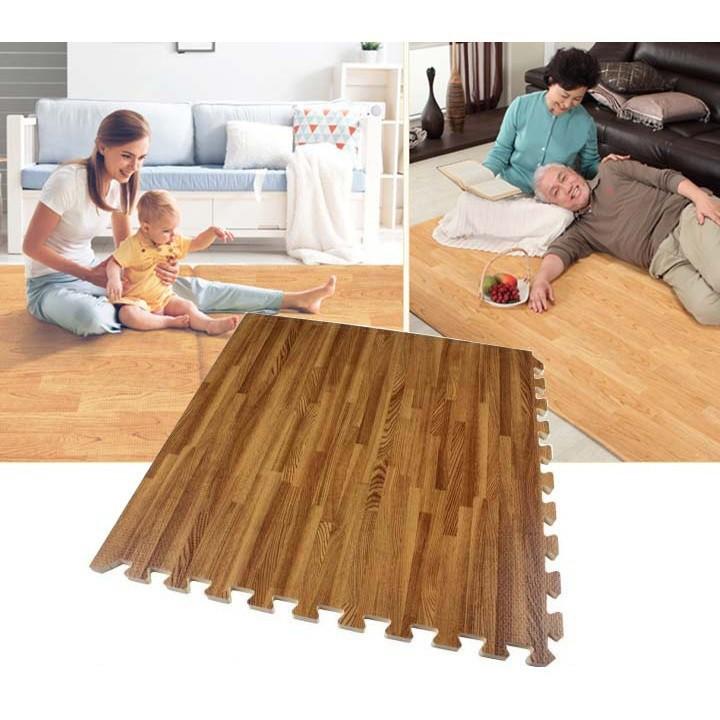 thảm lót sàn giả gỗ