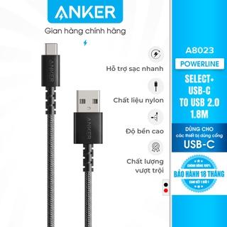 Cáp sạc Type C ANKER PowerLine Select+ USB-C ra USB 2.0 dài 1.8m - A8023 thumbnail