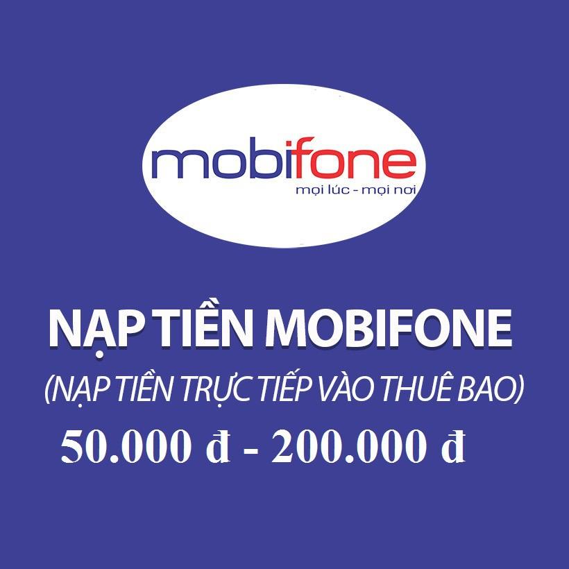Nạp Tiền Mobifone , Nạp cước Mobifone , Thanh toán cước Mobifone , Nạp tiền điện thoại Mobifone