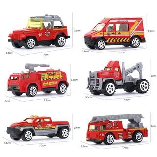 Bộ 6 đồ chơi xe cứu hỏa hợp kim
