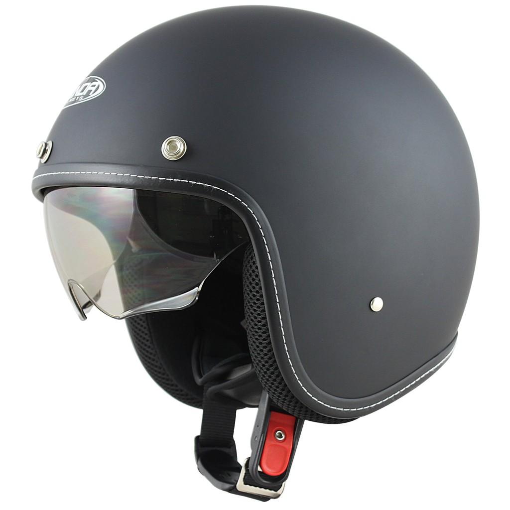 Mũ bảo hiểm dấu kính sunda 388 đen nhám