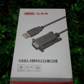 Cáp usb to com rs232 Unitek Y