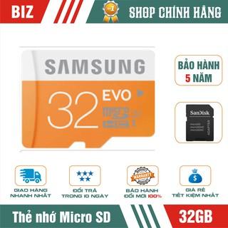 [Mã ELFLASH5 giảm 20K đơn 50K] Thẻ nhớ Micro SD Samsung 32GB HDXC (Kèm Adapter) – Bảo hành 5 năm!!!
