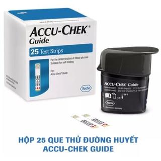 [Chính hãng] Hộp 25 Que thử đường huyết Accu-Chek Guide, có tem niêm yết, nhãn phụ tiếng việt. Sản xuất tại Mỹ, Date xa thumbnail