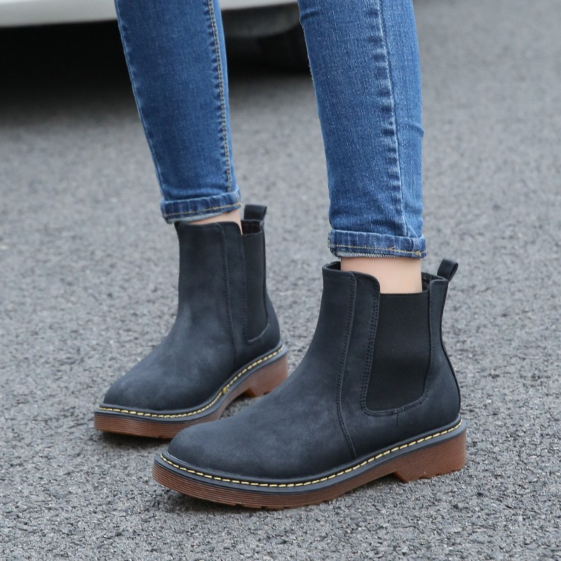 Giày Bốt Martin Cổ Cao Size Lớn Cho Nữ