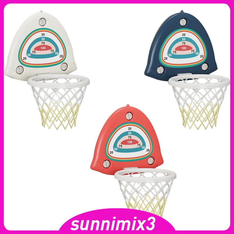 [Kayla Computing Shop] Mini Board Team Basketball Hoop Net Backboard Ball Indoor Game Set