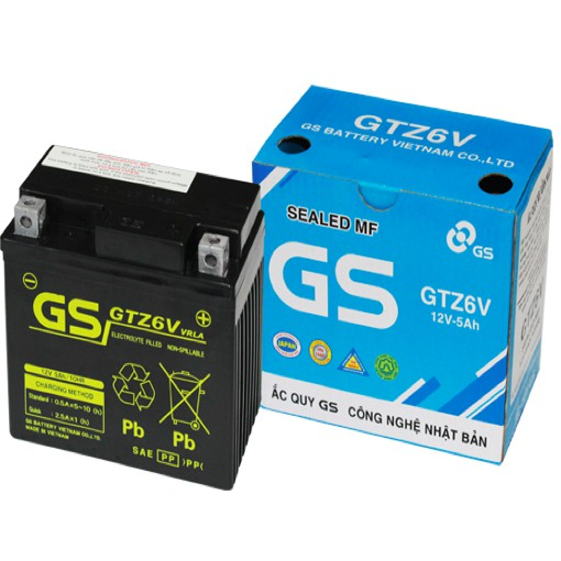 Ắc Quy GS GTZ6V (12V5AH)