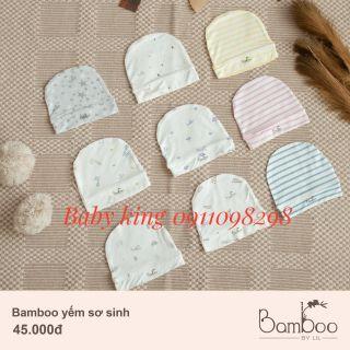 Bamboo by Lil-little love. Nón sơ sinh vải tre mềm mại, mát rượi thumbnail