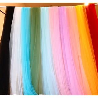 ⚡Giá sỉ⚡ Vải voan lưới tutu nhiều màu loại mềm chất dày đẹp không nhũ