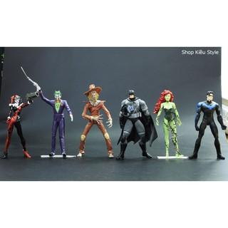 Bộ 6 mô hình nhân vật phim Batman vs Joker