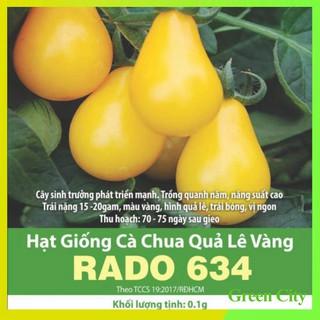 Hạt giống Cà Chua Quả Lê Vàng RADO 634 – Green City