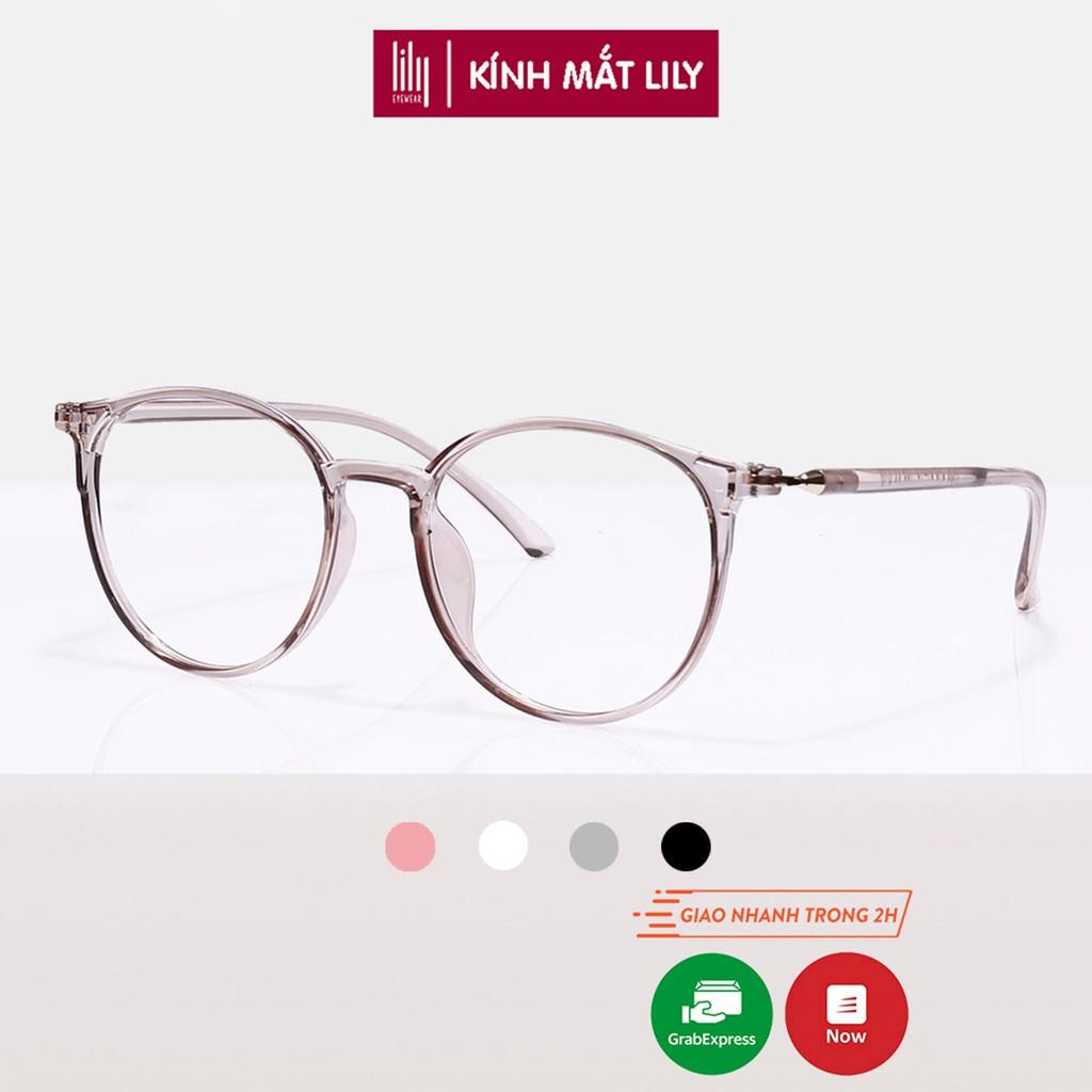 Gọng kính mắt tròn nhựa dẻo thời trang nữ Lilyeyewear 59193 nhiều màu
