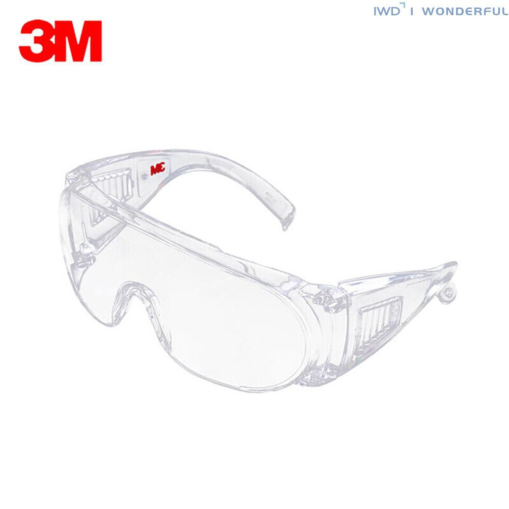 IWD 3M 1611HC Safety Glasses Professional Goggles Eyewear UV Protection Anti Dust Windproof Anti Fog Coating Eye Wear with Clear Lens for Eye Protection