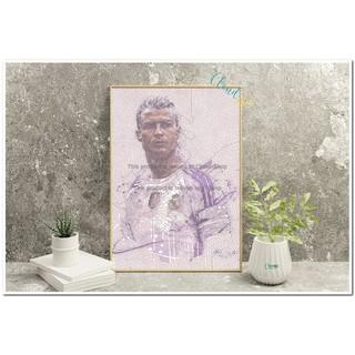 Free Ship – Tranh vẽ số hóa, treo tường, để bàn cầu thủ Ronaldo