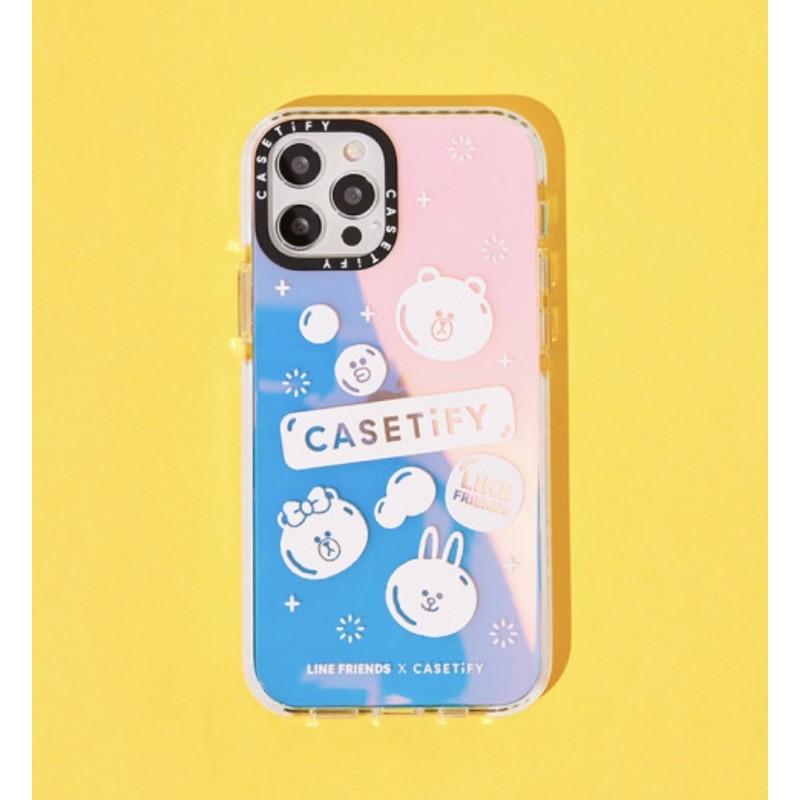 Ốp lưng LINE FRIENDS X CASETiFY phản quang | Bubbly iPhone case (chính hãng)