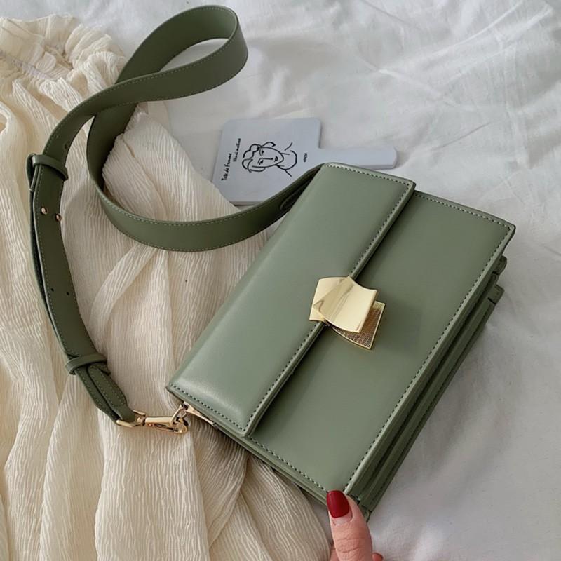Chic Messenger bag female bag 2019 new fashion small square