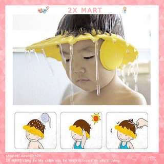 Mũ tắm che tai chắn nước cho bé, kiêm che nắng và cắt tóc 3 trong 1 - 2X MART thumbnail