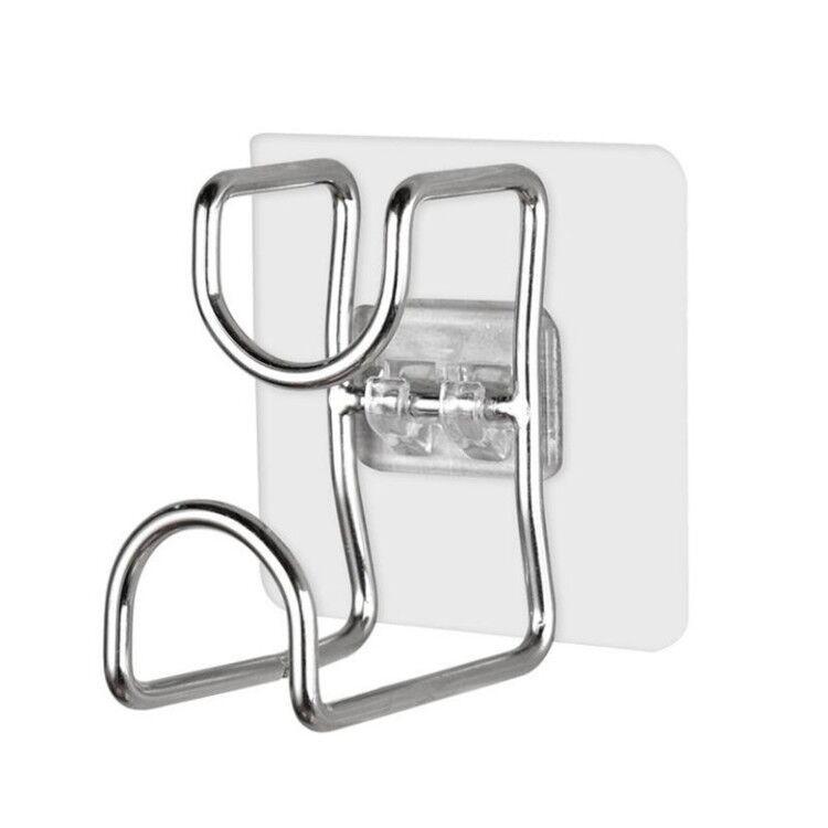 Móc treo đồ dán tường inox dùng cho nhà bếp, phòng tắm ( 2 cái )