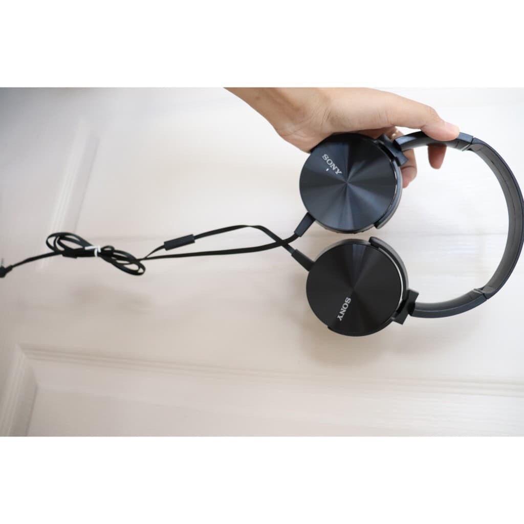 [Free Ship ] Tai Nghe Chụp Sony Extrbas 450AP , Tai nghe chụp tai, Có mic + Âm thanh bass cực chuẩn, Bảo hành 12 tháng