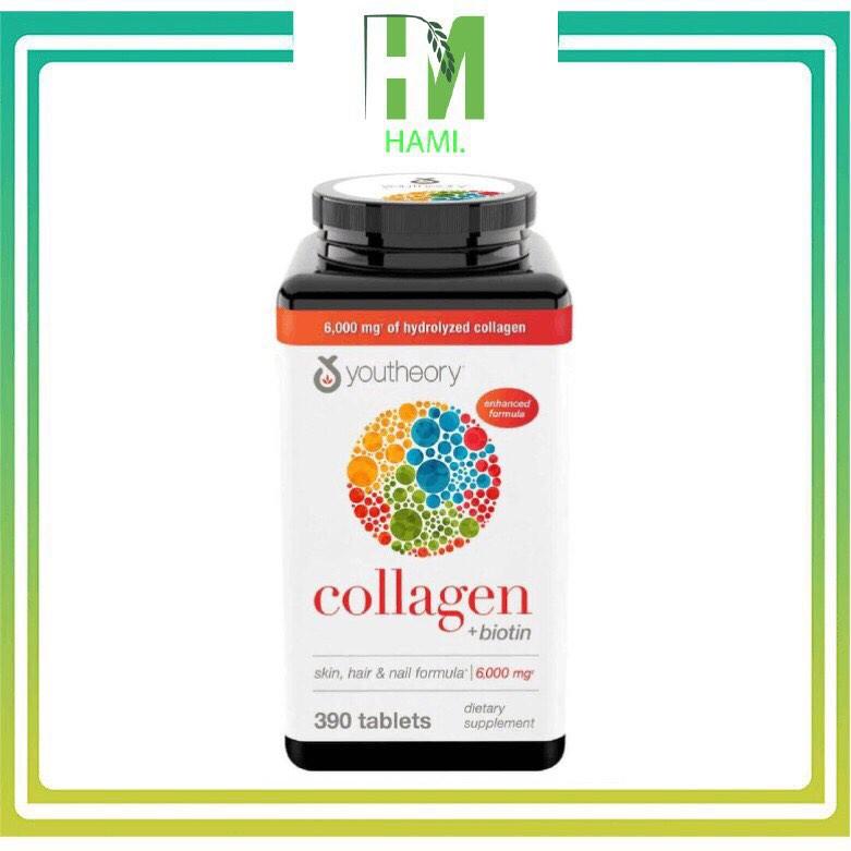 Collagen 390 viên collagen Youtheory Advanced Type 1,2&3