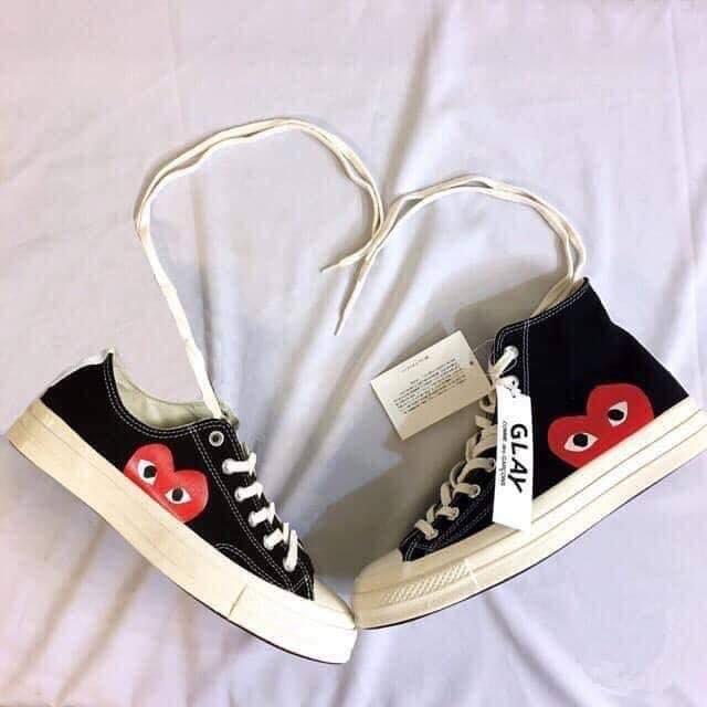 Giày thể thao Nam/nữ Fit_converse play đen cổ thấp