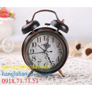 Đồng hồ để bàn chuông cơ có đèn, đường kính 4 inch (>10 cm)