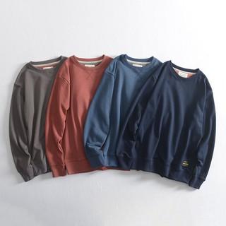 Áo len thu đông nam 2020 dài tay chất liệu cotton phong cách Nhật Bản cổ tròn